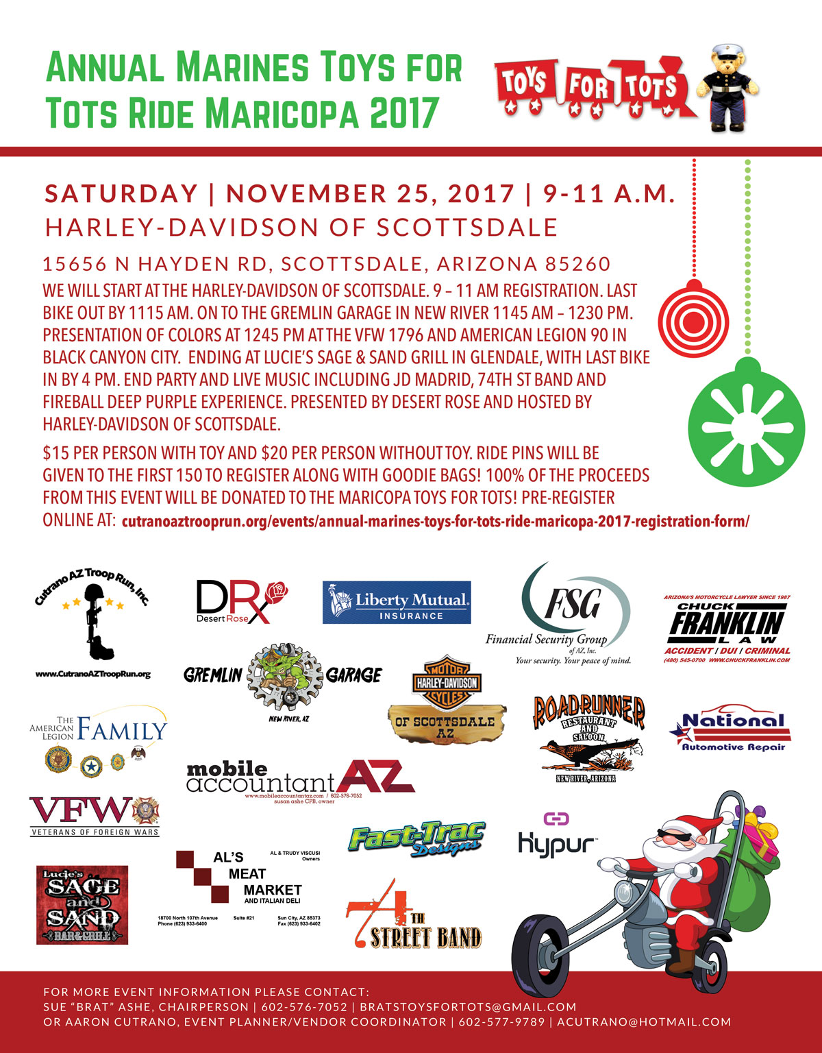Annual Marines Toys for Tots Ride Maricopa 2017