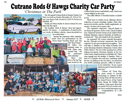 4th Annual Hot Rods and Hawgs Charity Benefit Party - Write Up