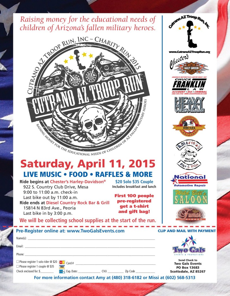 2015 Bike Run Flier